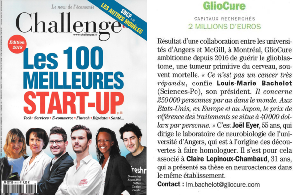Challenges_Les 100 meilleures start-up 2018
